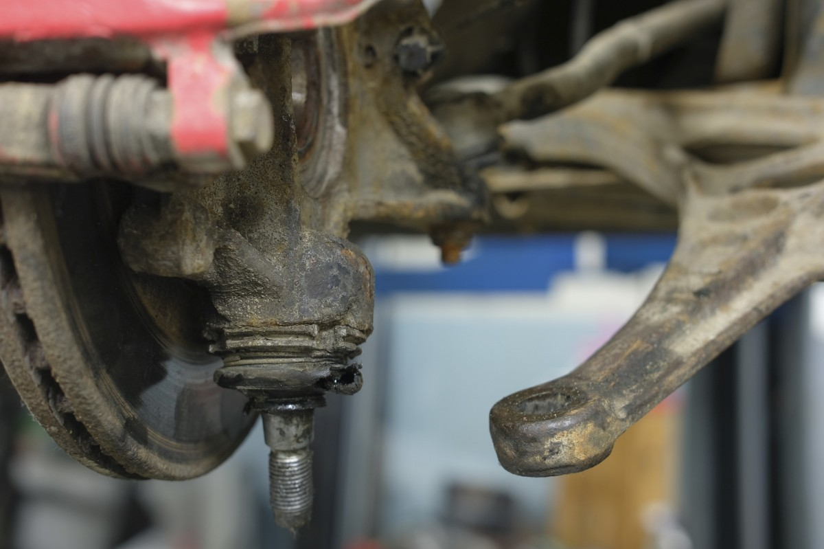 ball joint on a vehicle